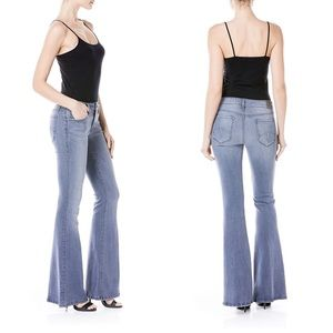 Level 99 Dahlia Flare Jeans Violet Wash Stretch